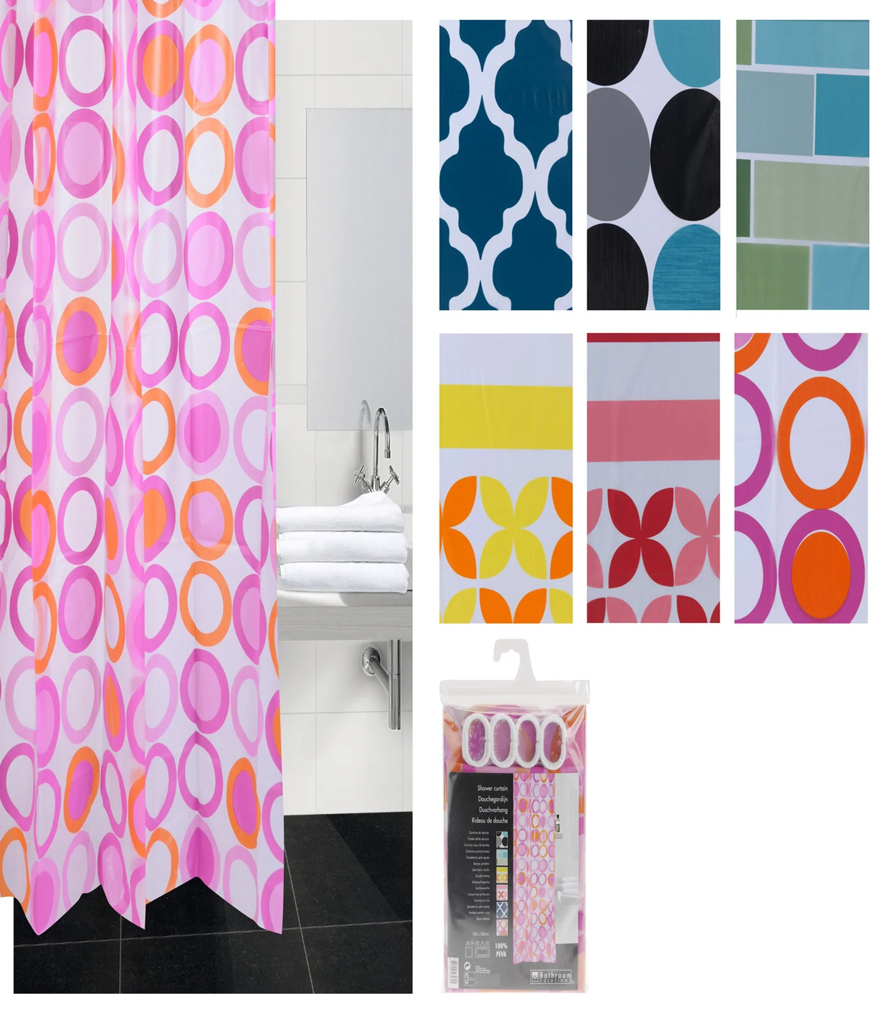 Designer Duschvorhang Shower Curtain Peva Shower Curtains Online Ahoc Ltd Hdaf