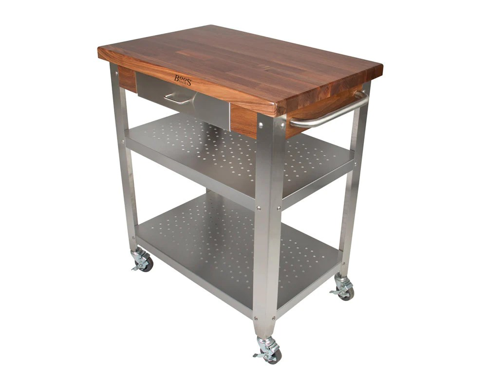 Cucina Kitchen Products John Boos Cucina Elegante Cart Walnut