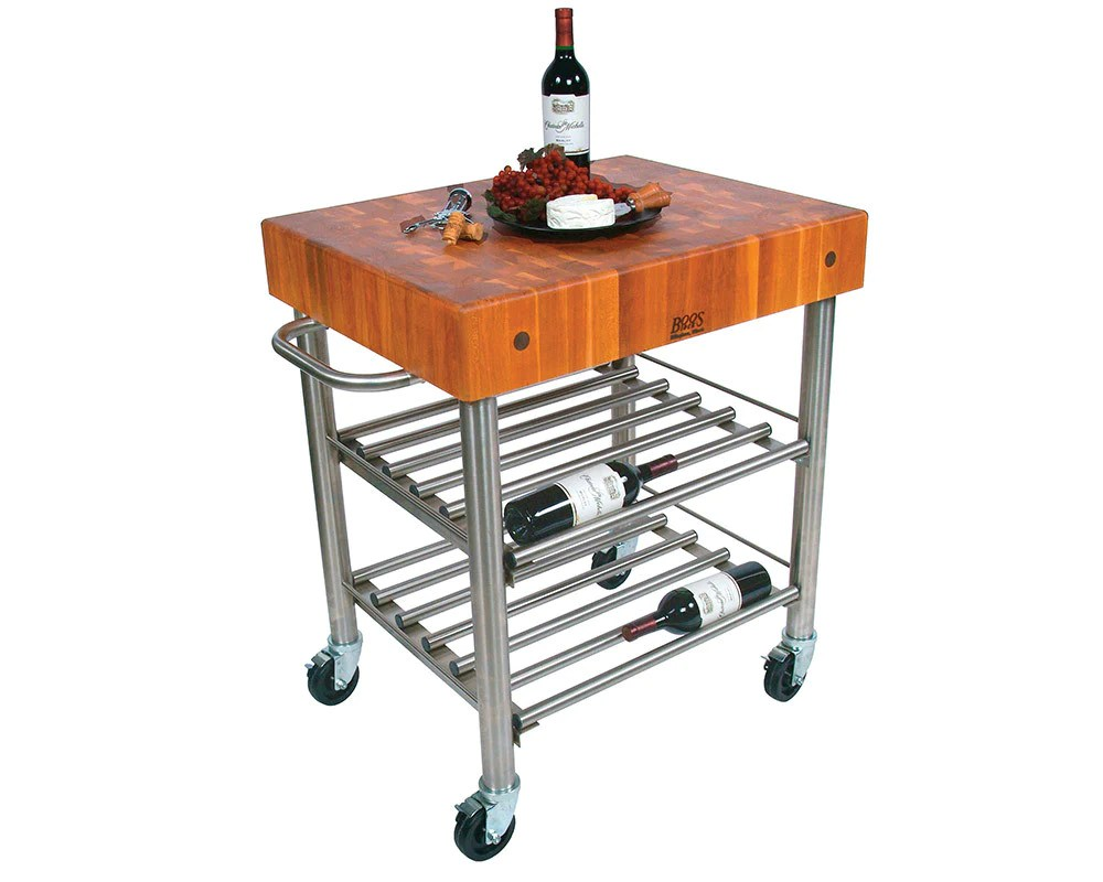 Cucina Kitchen Products John Boos Cherry Cucina D Amico Wine Cart
