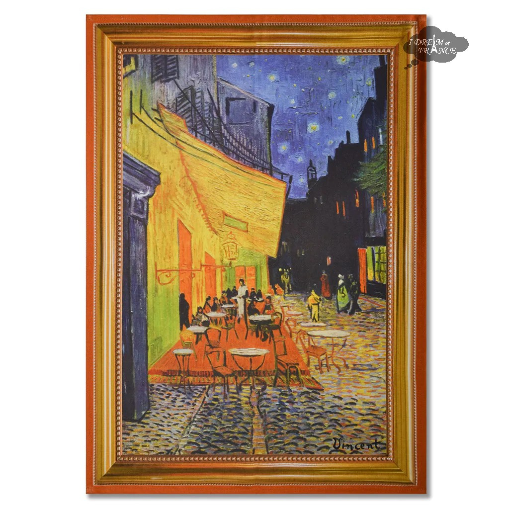 Tissus Avignon Van Gogh Cafe Terrace At Night French Kitchen Towel By Marat D Avignon