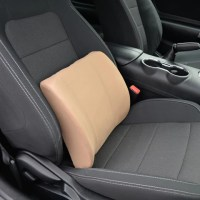 Gray Synthetic Leather Orthopedic Lumbar Support Seat Cushion