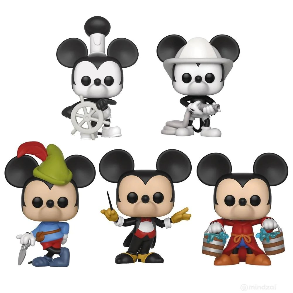 Disney Mickey Disney Mickey 90th Anniversary Funko Pop Set Of 5