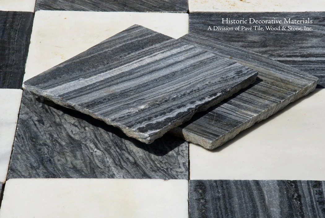 18th Century Italian Antique Black And White Marble Stone
