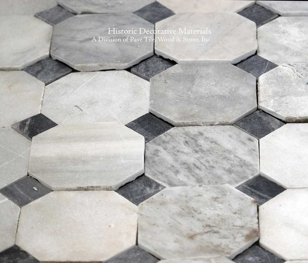 Black And White Marble Floors 18th Century Italian Antique Black And White Marble Stone Floors Elegant Octagon