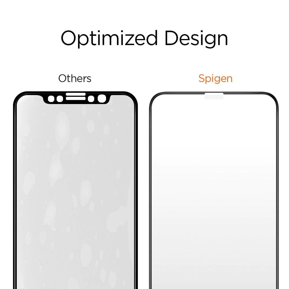 Display Glas Iphone X Screen Protector Glass Full Cover 2 Pack Spigen Inc