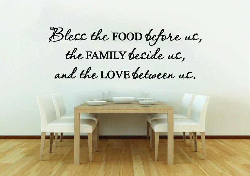 bless food kitchen wall quote sticker iwallstickers quotes food nice kitchen wall sticker quote