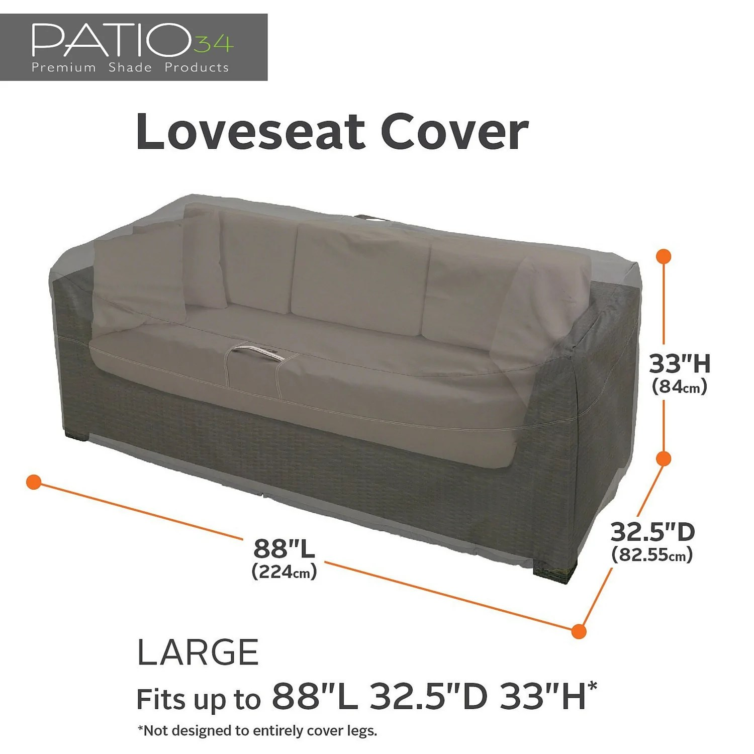 Couch Covers Premium Patio Loveseat And Sofa Covers Charcoal