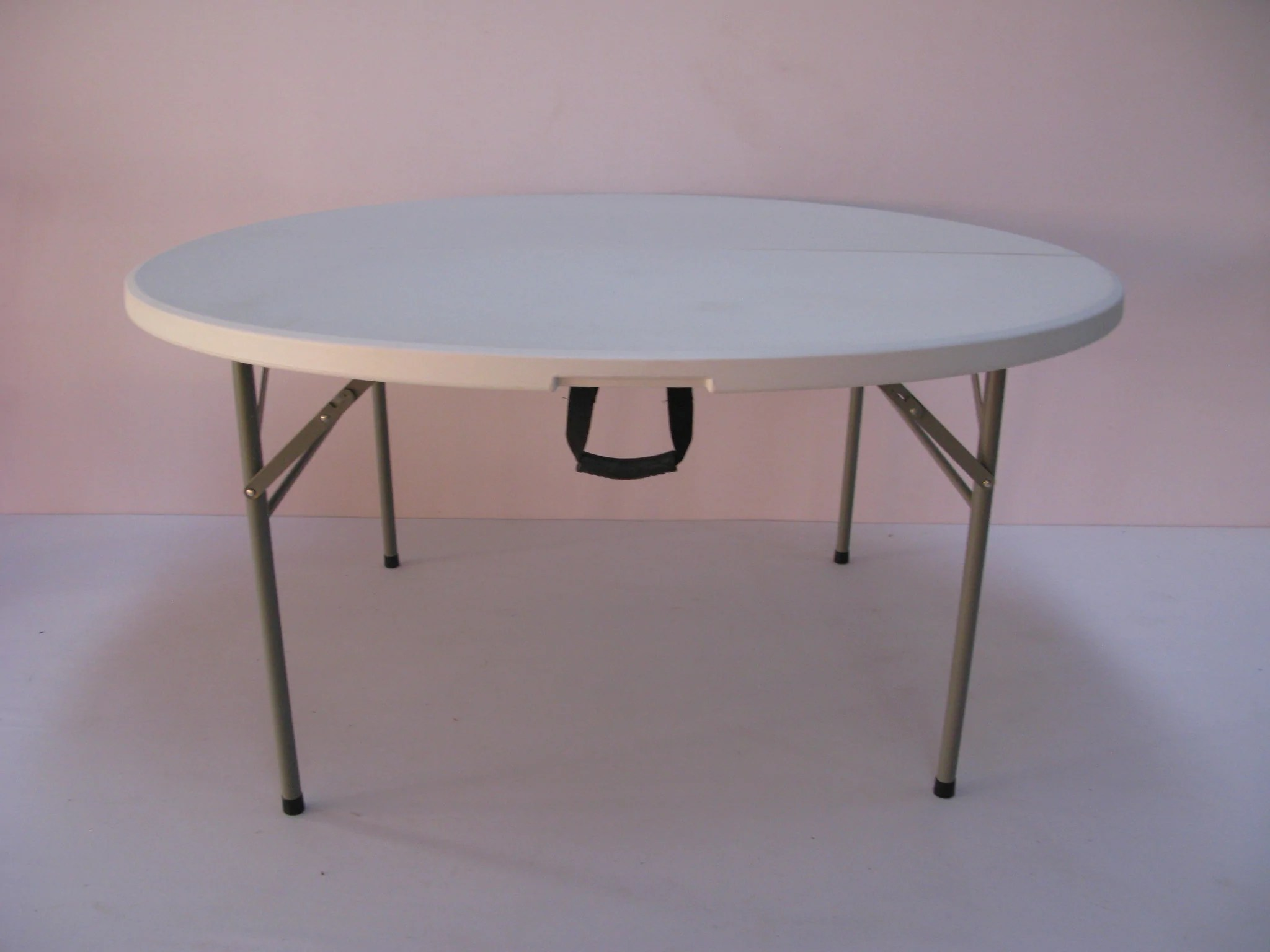 Round Table Seats 10 Rou003 Fold In Half Round Plastic Tables 1800mm Seats