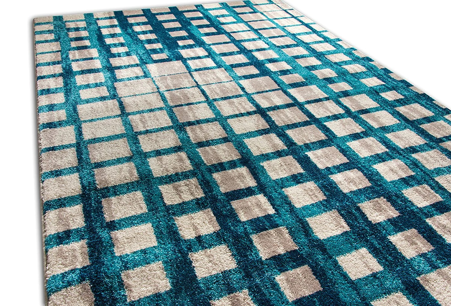Teal Color Area Rugs Teal Blue Square Tiles Design Contemporary Area Rugs Thick Soft