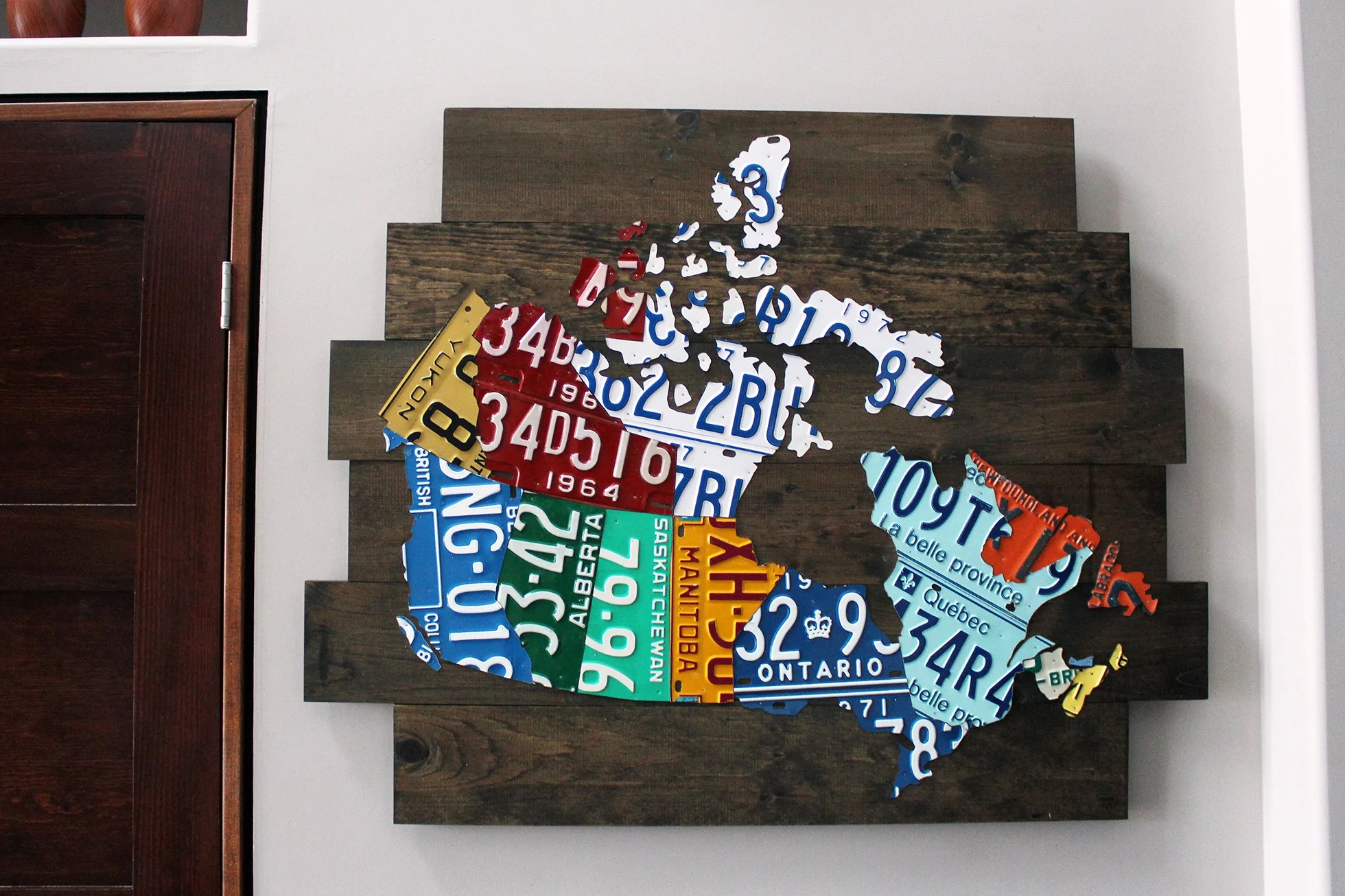Home Goods Online Canada Map Of Canada License Plate Art Vintage Industrial Art