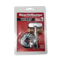 HearthMaster Gas Shut Off Valve with Chrome Escutcheon Key ...
