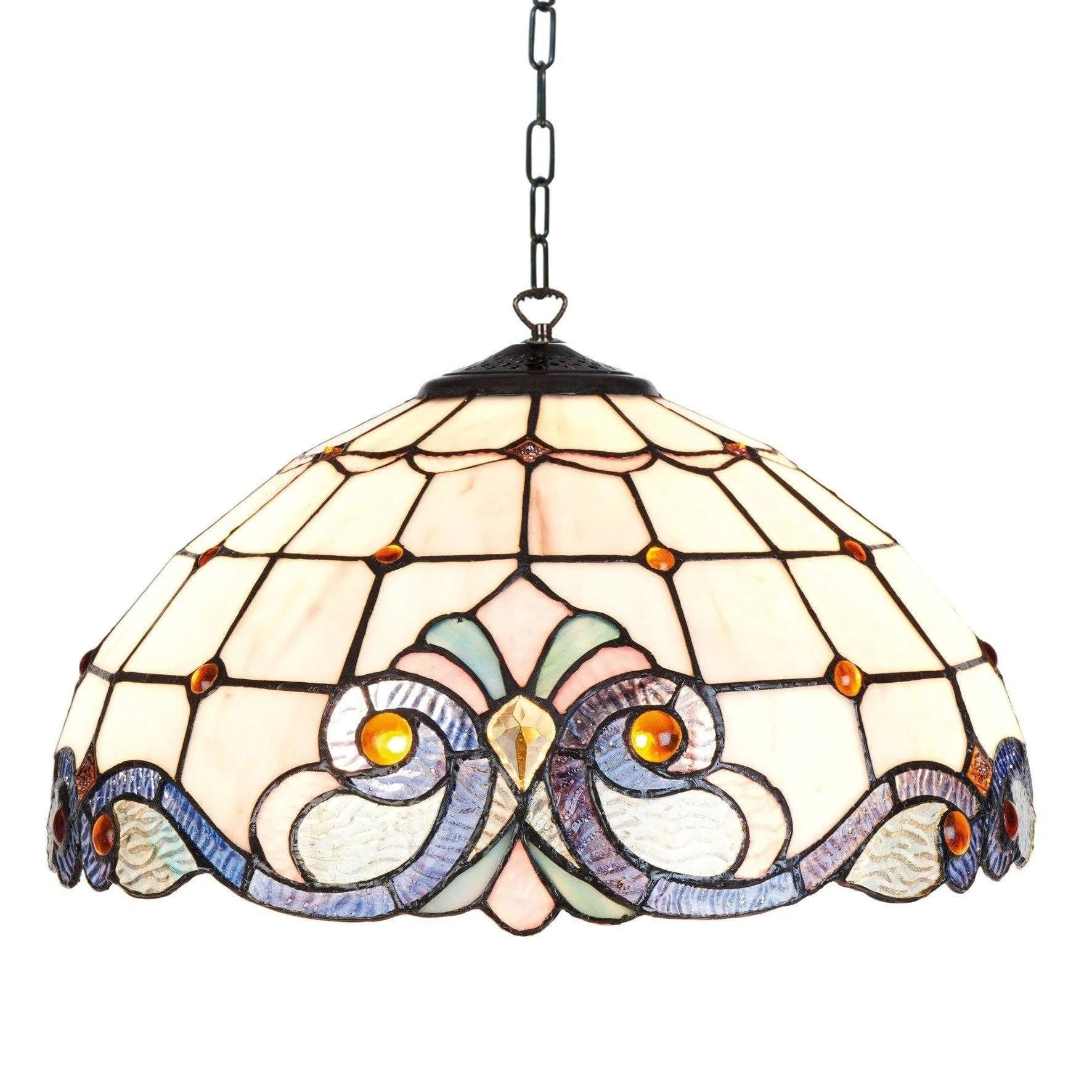 Glass Lamp Ceiling Newcastle Tiffany Ceiling Light Single Bulb Fitting