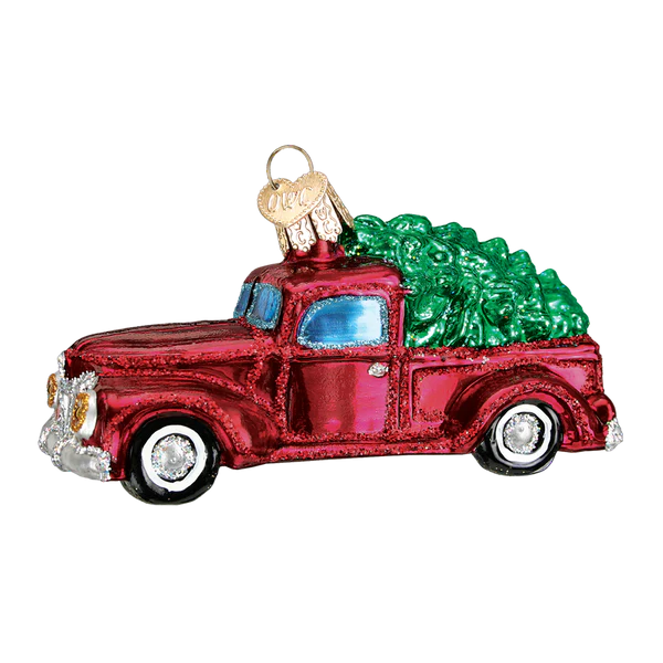 Cute St Patricks Day Wallpaper Old Red Truck With Tree Ornament Old World Christmas