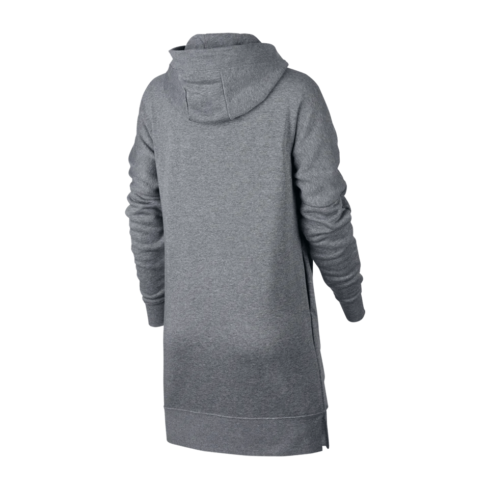 Nike Hoodie Carbon Heather Nike Women S Modern Long Fleece Hoodie Full Zip Carbon Heather