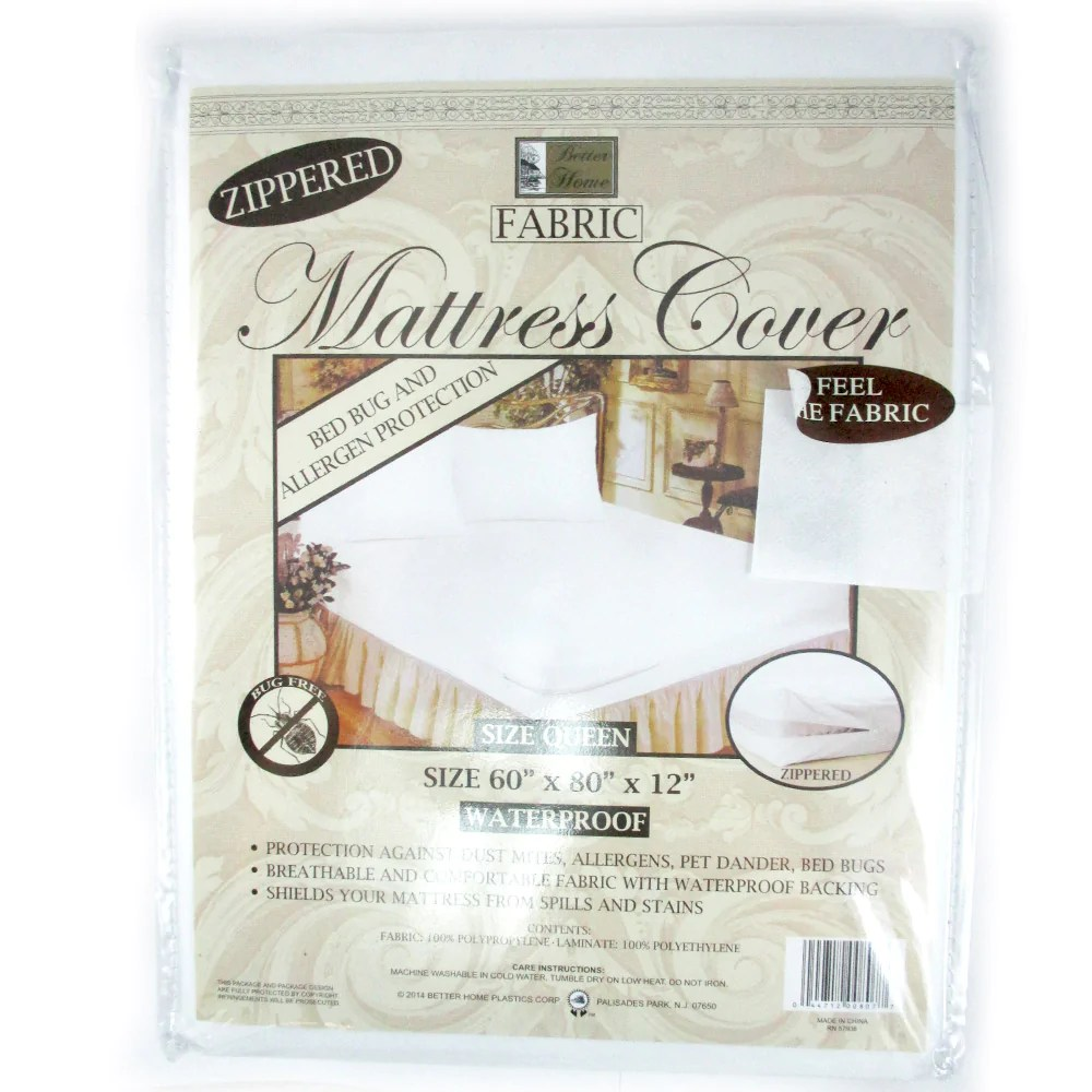 Bed Bug Protection Cover 1 Queen Size Zippered Mattress Cover Waterproof Bed Bug Dust Mite Protect Fabric