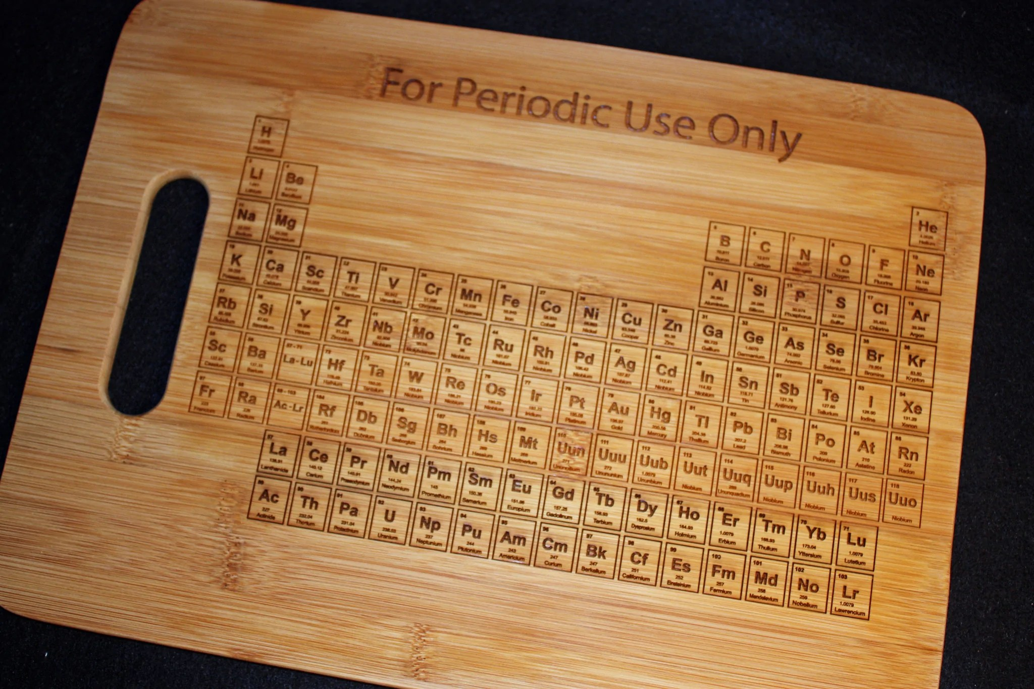 I Use This Cutting Board Periodically Periodict Table Cutting Board Quantity 30 The