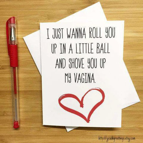 Roll You Up In A Little Ball Vagina Humor Funny Anniversary Card