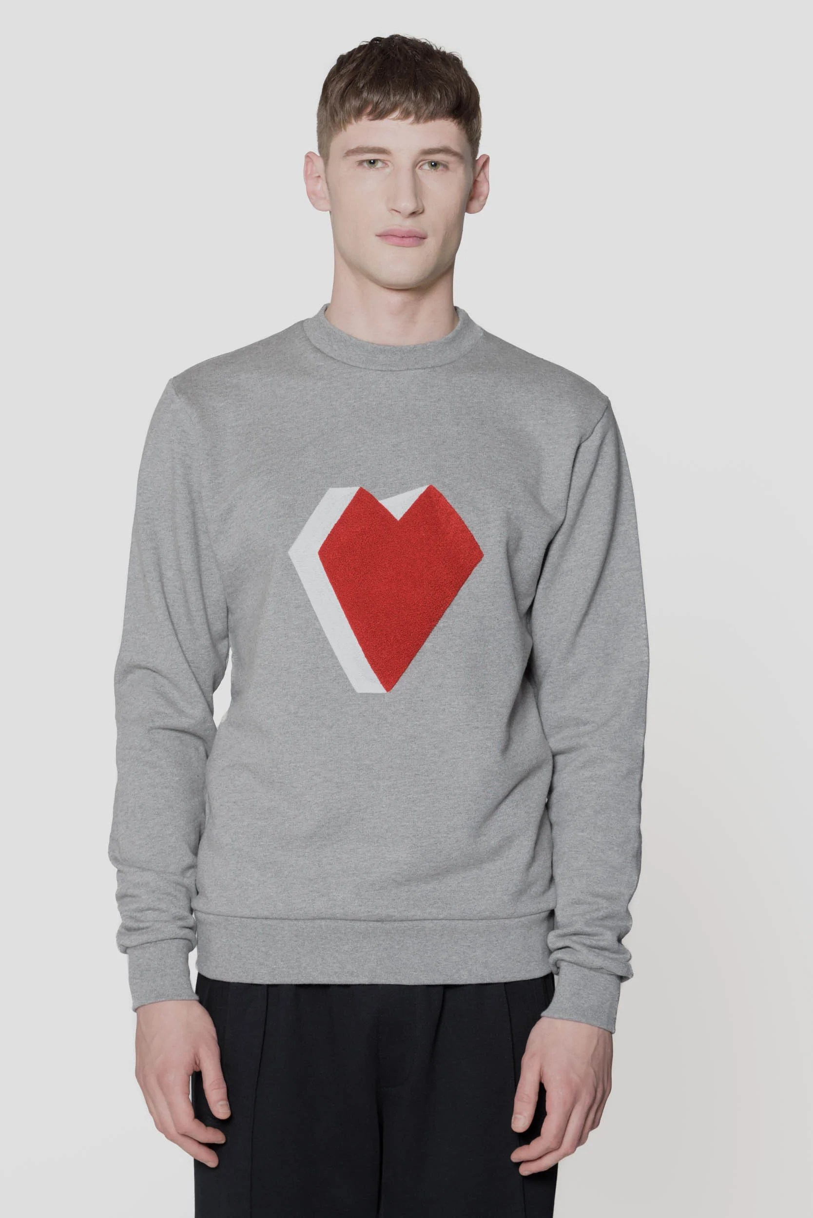 Arte Antwerp Instagram Heart Logo Crewneck Grey