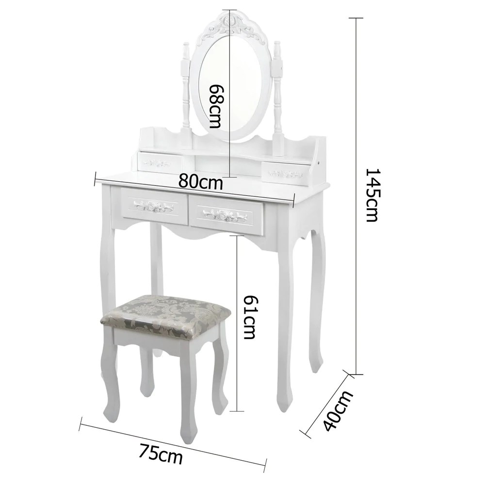 Dressing Table Australia White 4 Drawer Mirror Dressing Table Jewellery Cabinet With Stool
