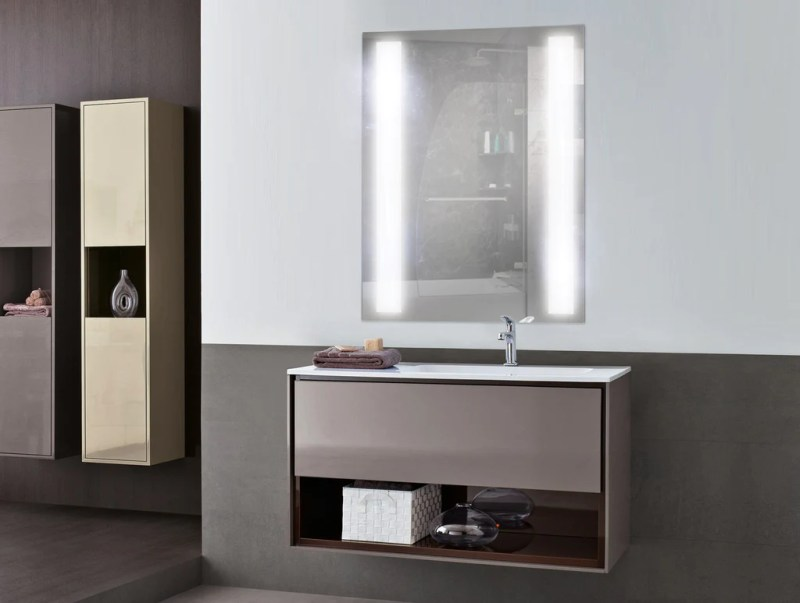 Large Of Lighted Bathroom Mirror