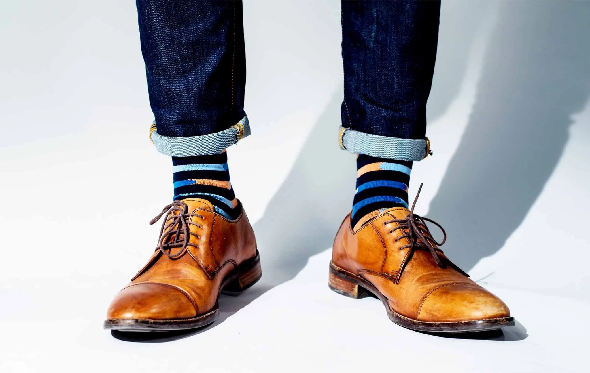 How To Pair Colorful Socks With Brown Shoes Society Socks