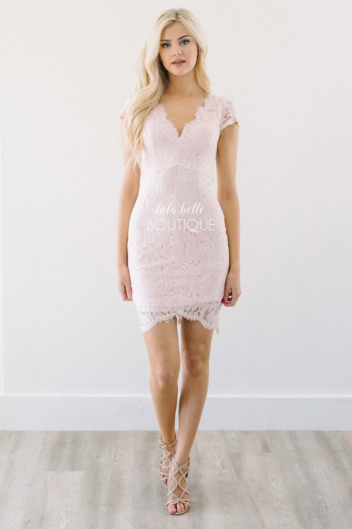 Fullsize Of Pink Lace Dress