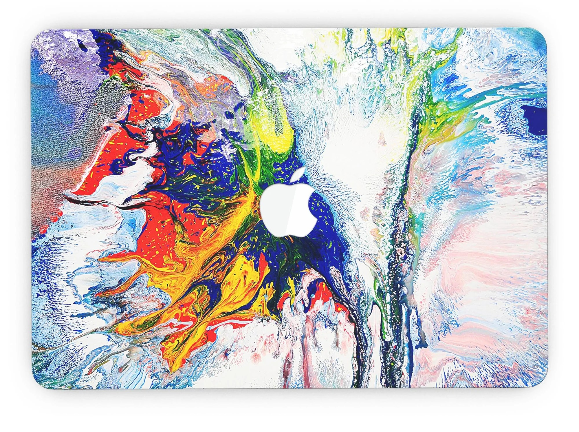 Bright Colours Painting Bright White And Primary Color Paint Explosion Macbook Pro With Retina Display Full Coverage Skin Kit