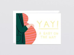 Antique On Foiled Greetings Card By Baby On Foiled Greetings Card By Wrap Really Well Made Baby On Way Wishes Baby On Way Meme