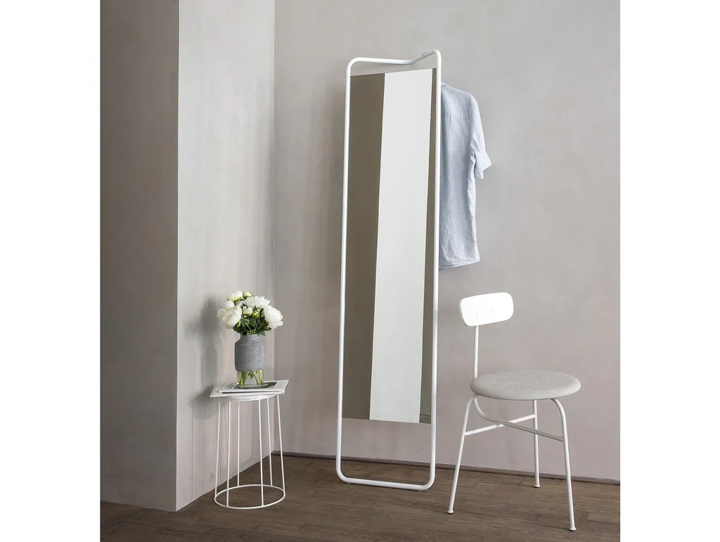 White Floor Mirror Kaschkasch Floor Mirror By Menu