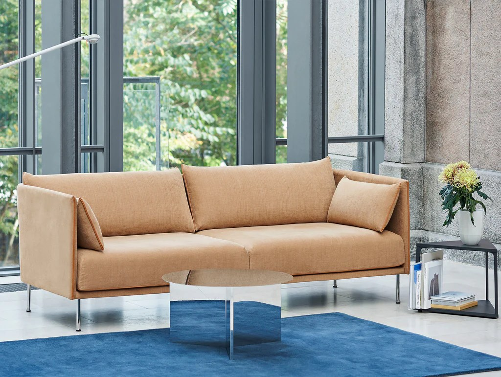Sofa Cognacfarben Silhouette 3 Seater Sofa By Hay