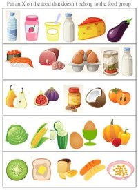 Food Group Activities and Worksheets  Kids Cooking Activities