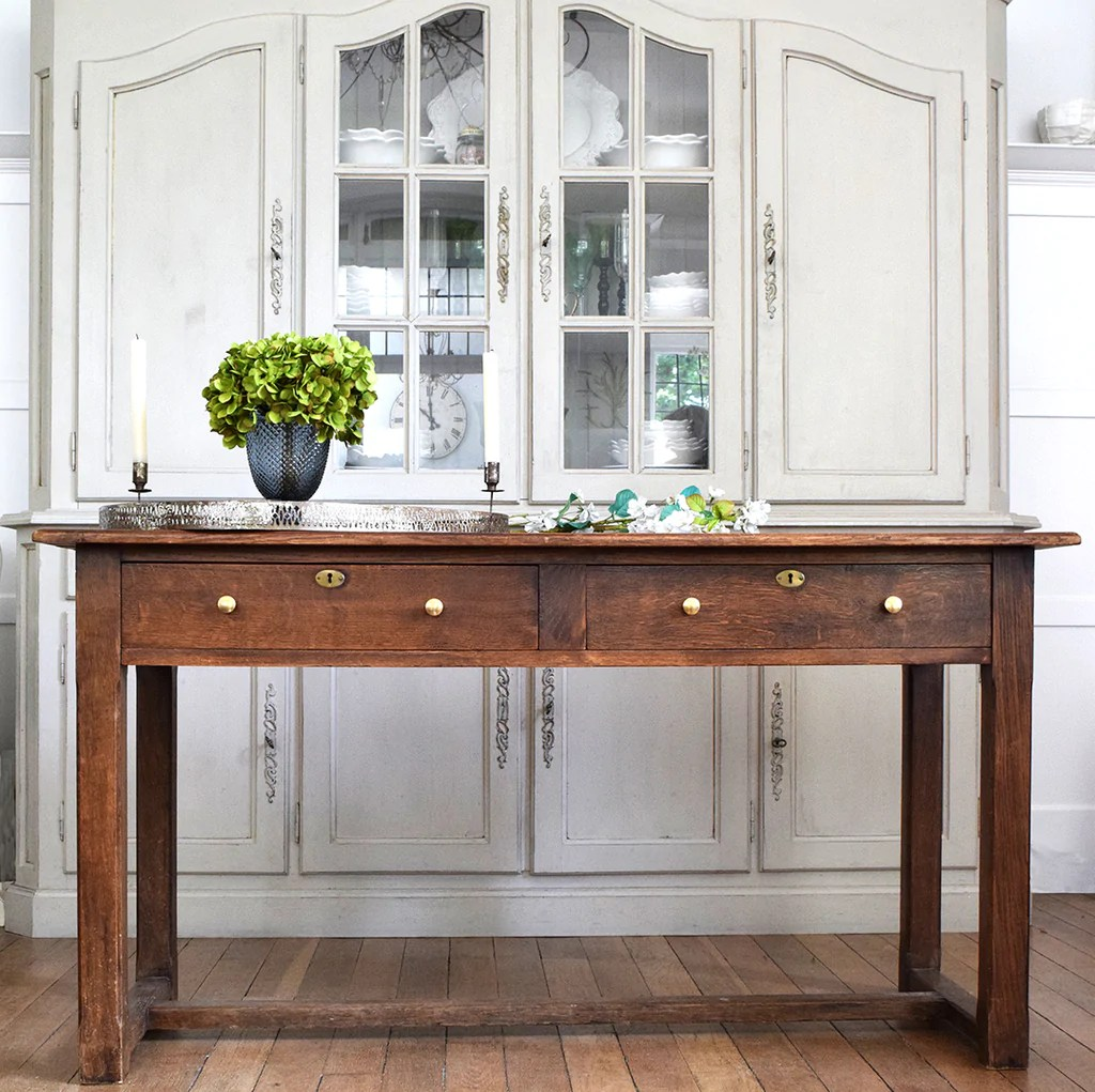 Vintage Wooden Table With Drawers Vintage Furniture Curated Living