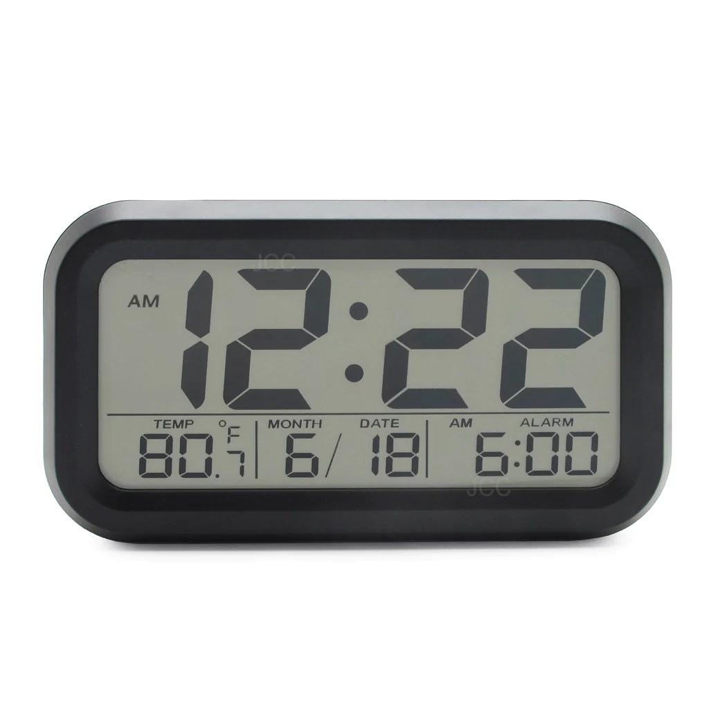 Digital Clock For Sale Jcc Automatic Smart Soft Light Lcd Bold Numbers Digital