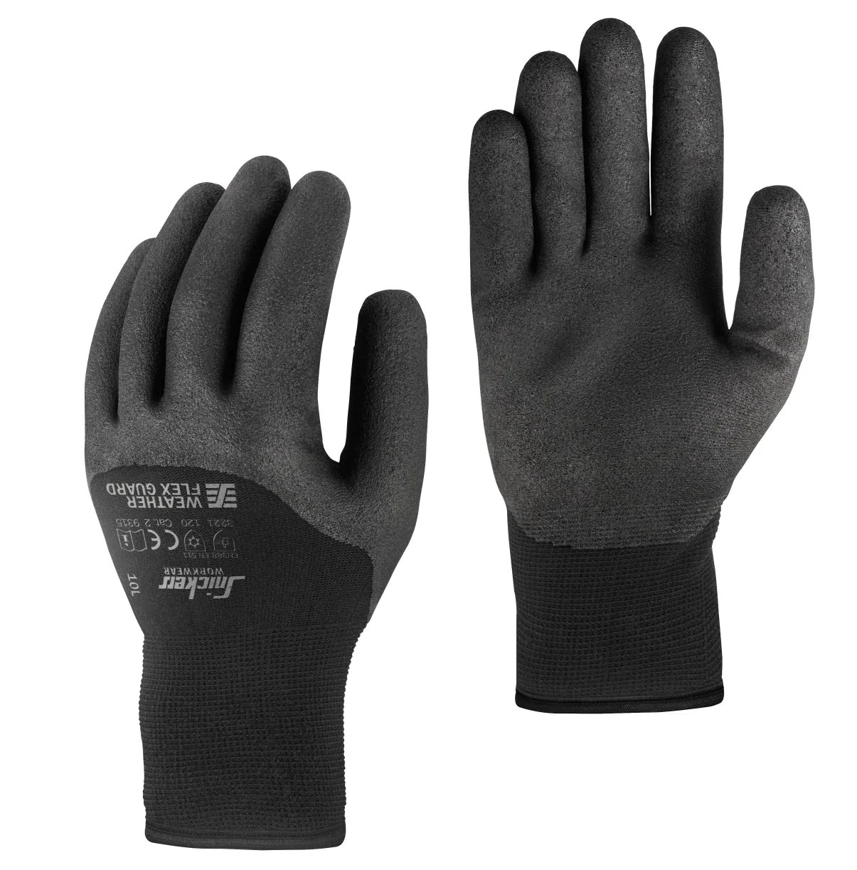 Gamma Handschoenen Snickers 9325 Weather Flex Guard Gloves Paar Palm En Knokkel Bescherming 10 Paar