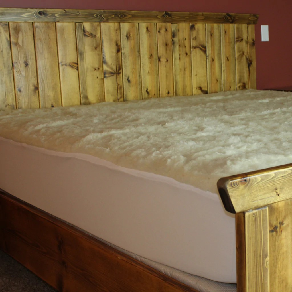 Bed Overlay Wool Mattress Overlay With Skirting