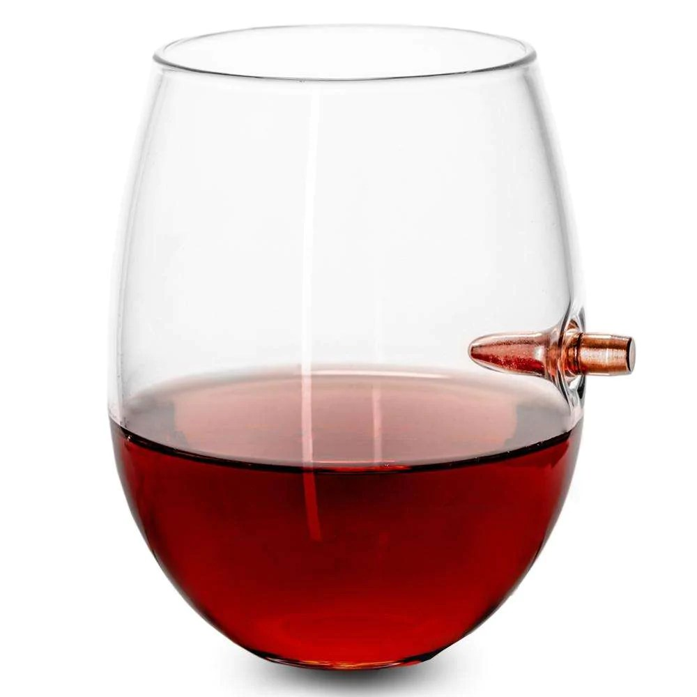 Red Wine Glasses For Sale 308 Real Bullet Handmade Wine Glass