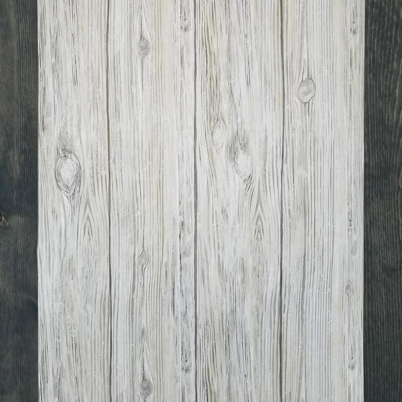 Gray Distressed Shiplap Rustic Wood Peel and Stick Wallpaper | RMK9086WP – D. Marie Interiors