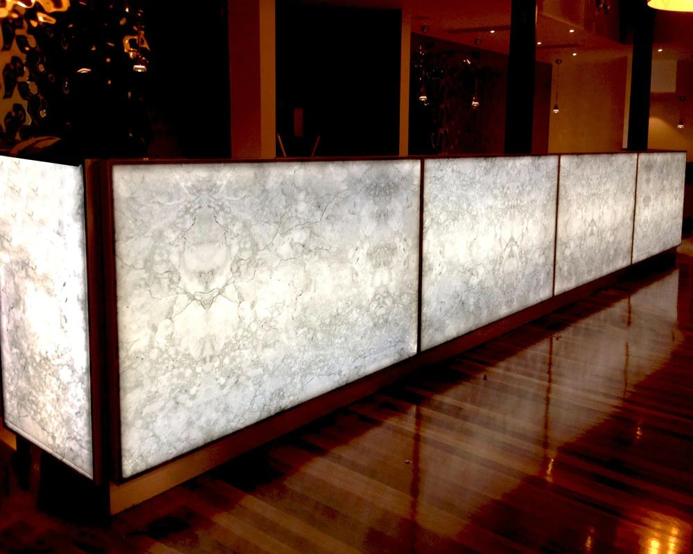 Backlit Panels For Onyx Countertops Custom Led Light Panels Lighting Geek
