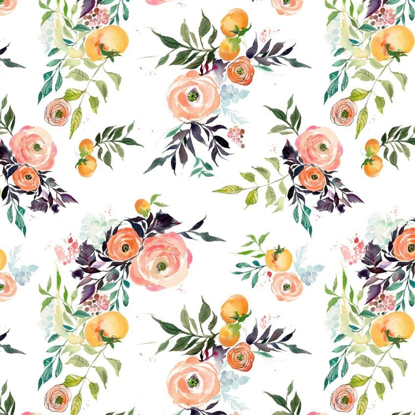 Cute Crisp Wallpapers Fruits And Blooms Watercolor Wallpaper Kristyrice Com