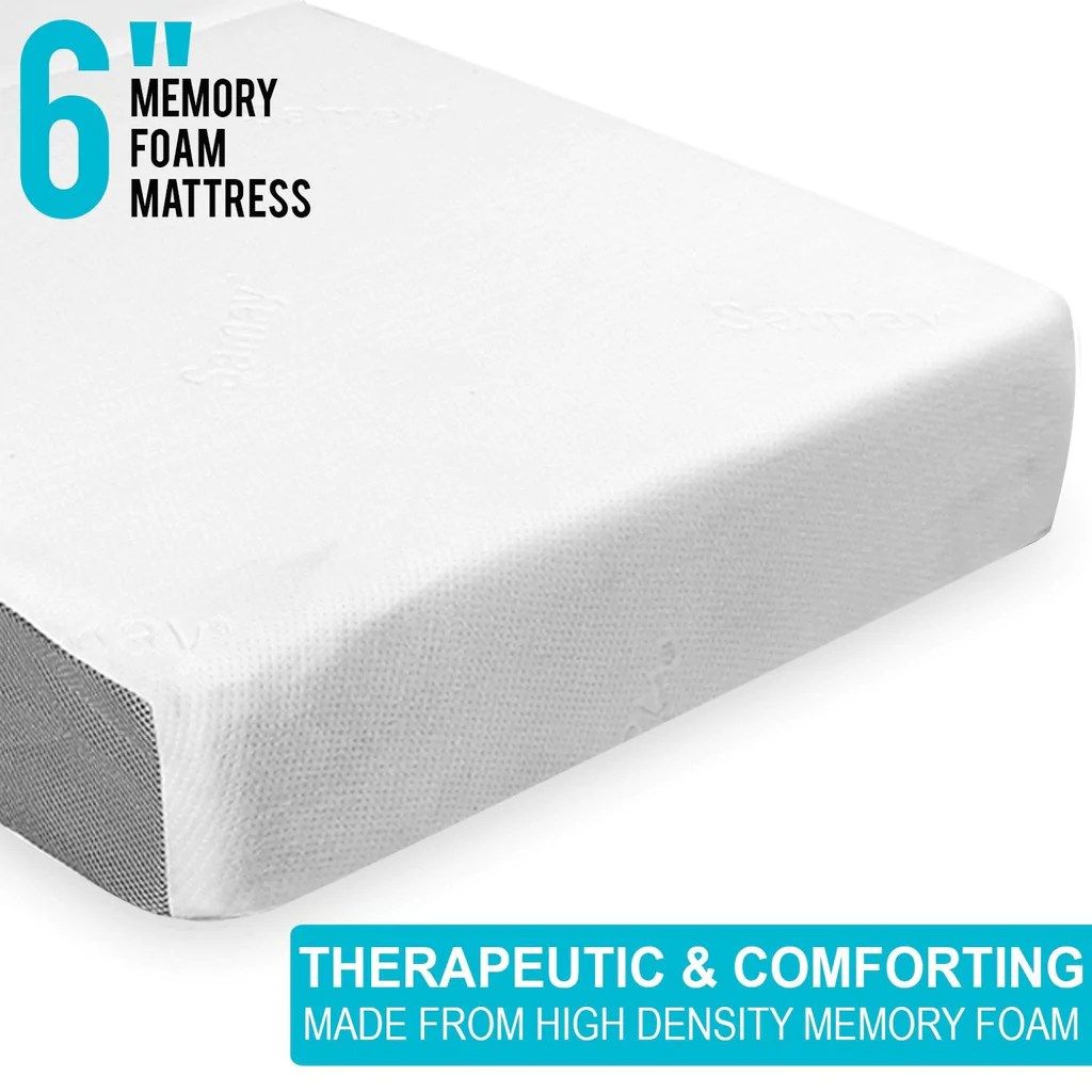 Foldable Foam Mattress Samay 6 Inch Tri Folding Memory Foam Mattress Includes