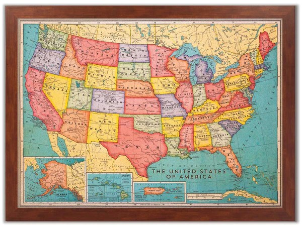 World Travel Map Pin Board - The Columbus World Map - Includes 100