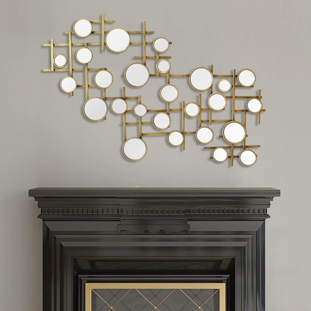 Metallic Decor Design Home Accents Elegant Mirror Cluster Wall Décor Stratton Home Decor
