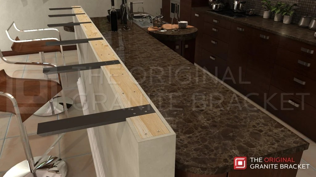Granite Top Kitchen Island Table How To Install Countertop Support Brackets – The Original