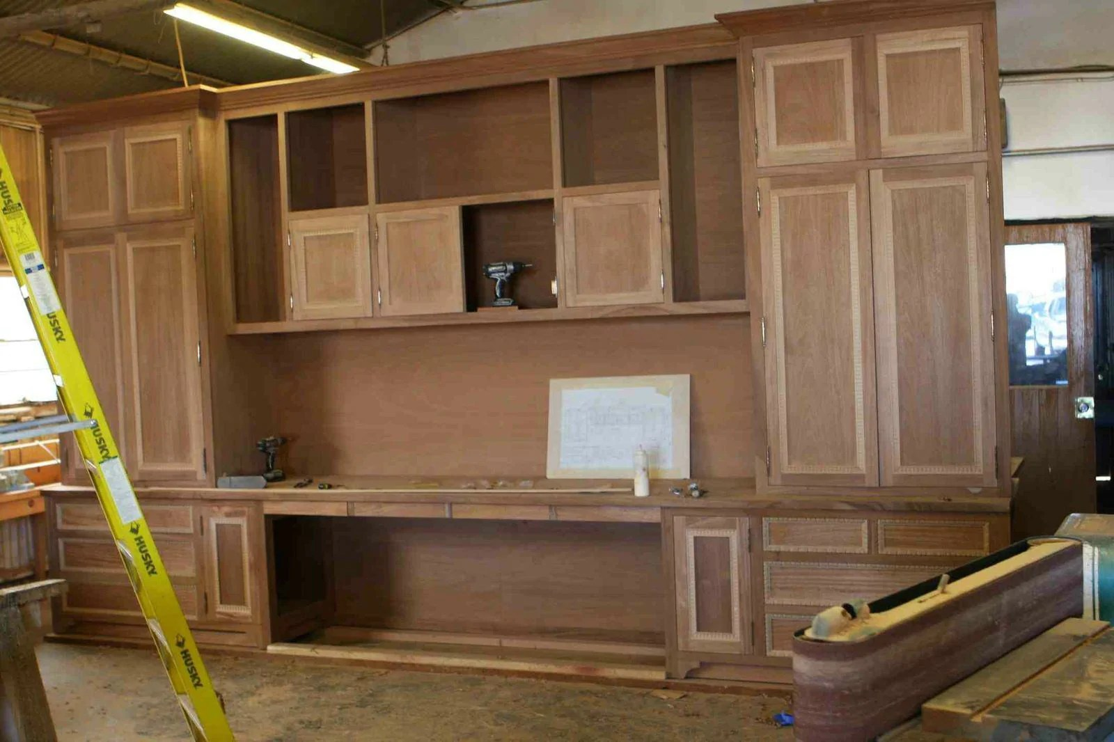 Home Office Cabinets Custom Builtin Mahogany Wood Home Office Cabinets Mortise Tenon