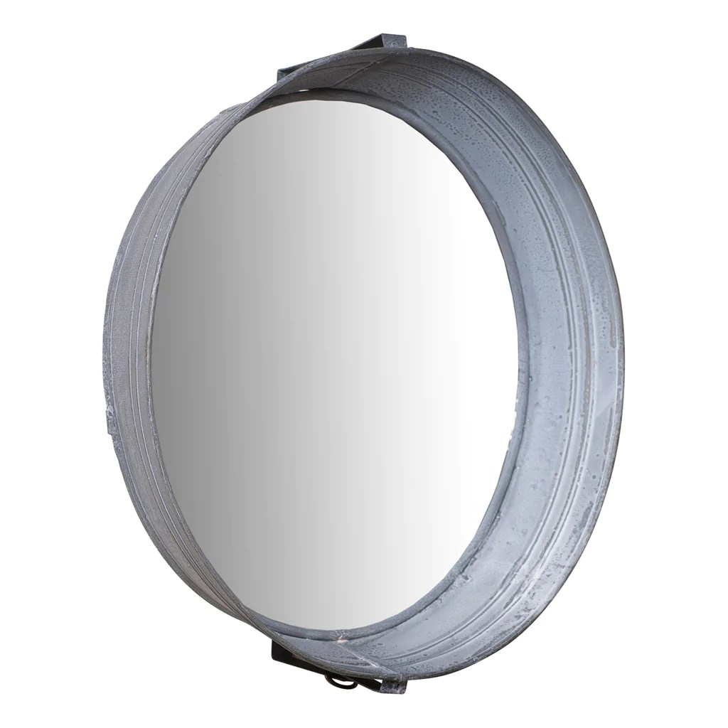 Metal Wash Bin Washtub Mirror Country Wash Tub In Weathered Zinc Finish