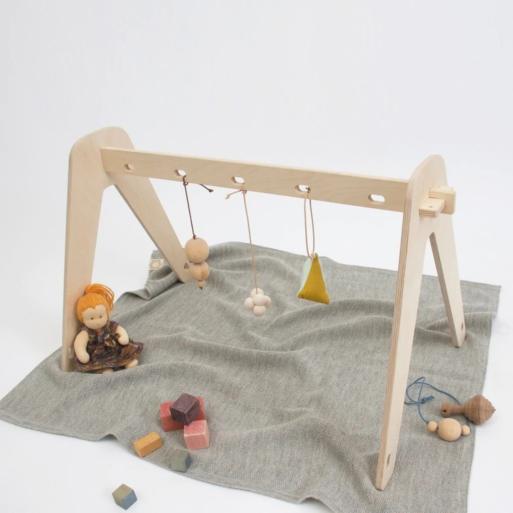 Bieco Spiel Trapez Baby Gym Sternchen Aus Holz Baby Gym Holz Diy Wooden Baby Gym The Merrythought Diy