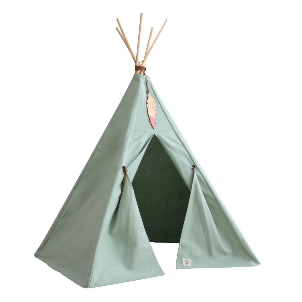 Tipi Zelt Kinder Klein | Einhorn Wolke Fuchs Und Reh Indianer Zelt ...