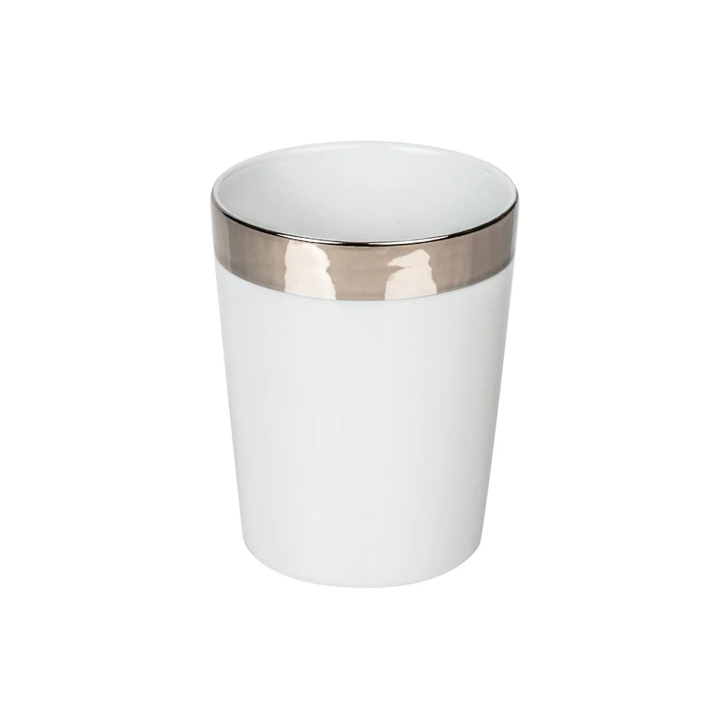 Decor Walther Decor Walther Porcelain White Tumbler Gold Or Platinum