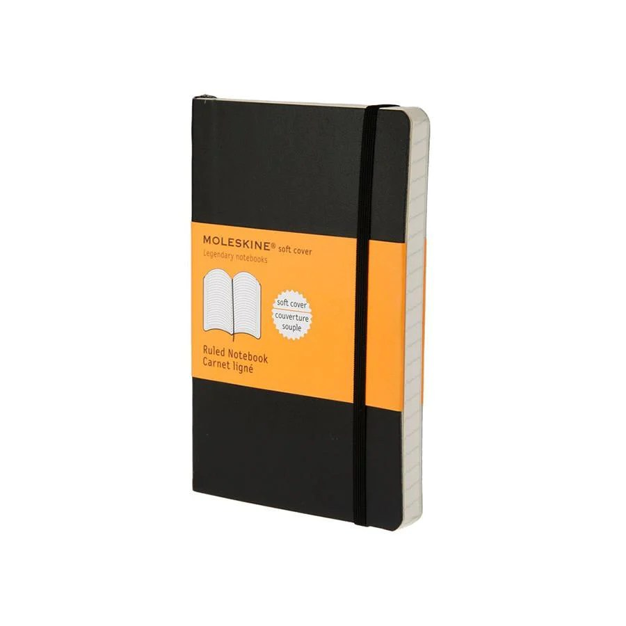 Compact Travel Slippers Moleskine 3 5 X 5 5 Soft Cover Pocket Notebook In Black