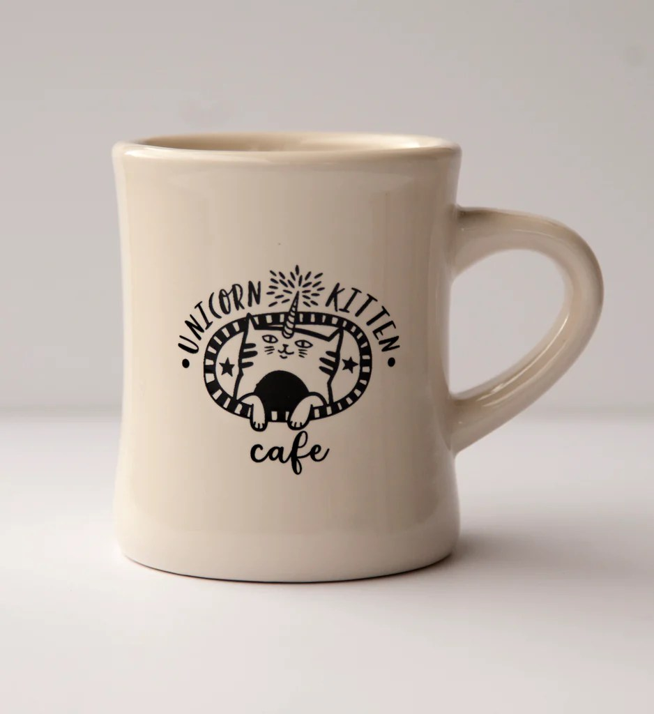Mug A Cafe Unicorn Kitten Cafe Diner Mug